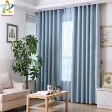 Be Customized Free Shipping 2 Colors Available Blue and Purple Printed Small Flowers Blakcout Curtains For Living Room