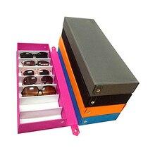 8 сетки солнцезащитных очков чехол для хранения очки-дисплей glasswear коробка аккуратный инструмент