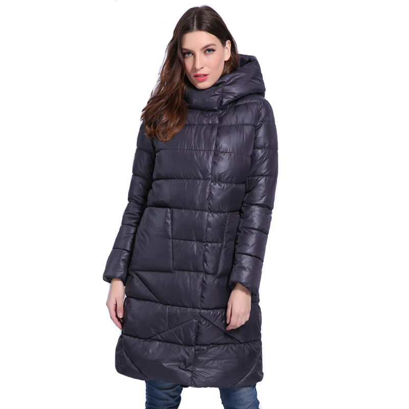 European Style 2019 New Arrival Women Winter Jacket Hooded Warm High Quality Outwear Female Coat Long   Parka   Padded Manteau Femme