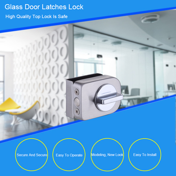 Double Glass Door Latches Lock 304 Stainless Steel Lock,Without Hole,Bidirectional Unlock Frameless Glass Door For Home Office