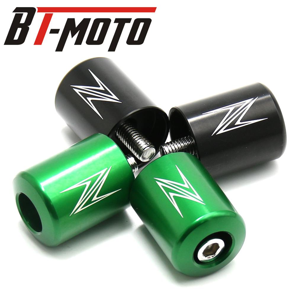 For KAWASAKI Z1000 Z900 Z800 Z750R Z750S Z650 Z300 Z250 Handlebar Grips Bar Ends Cap Cover Slider Motorcycle Accessories CNC