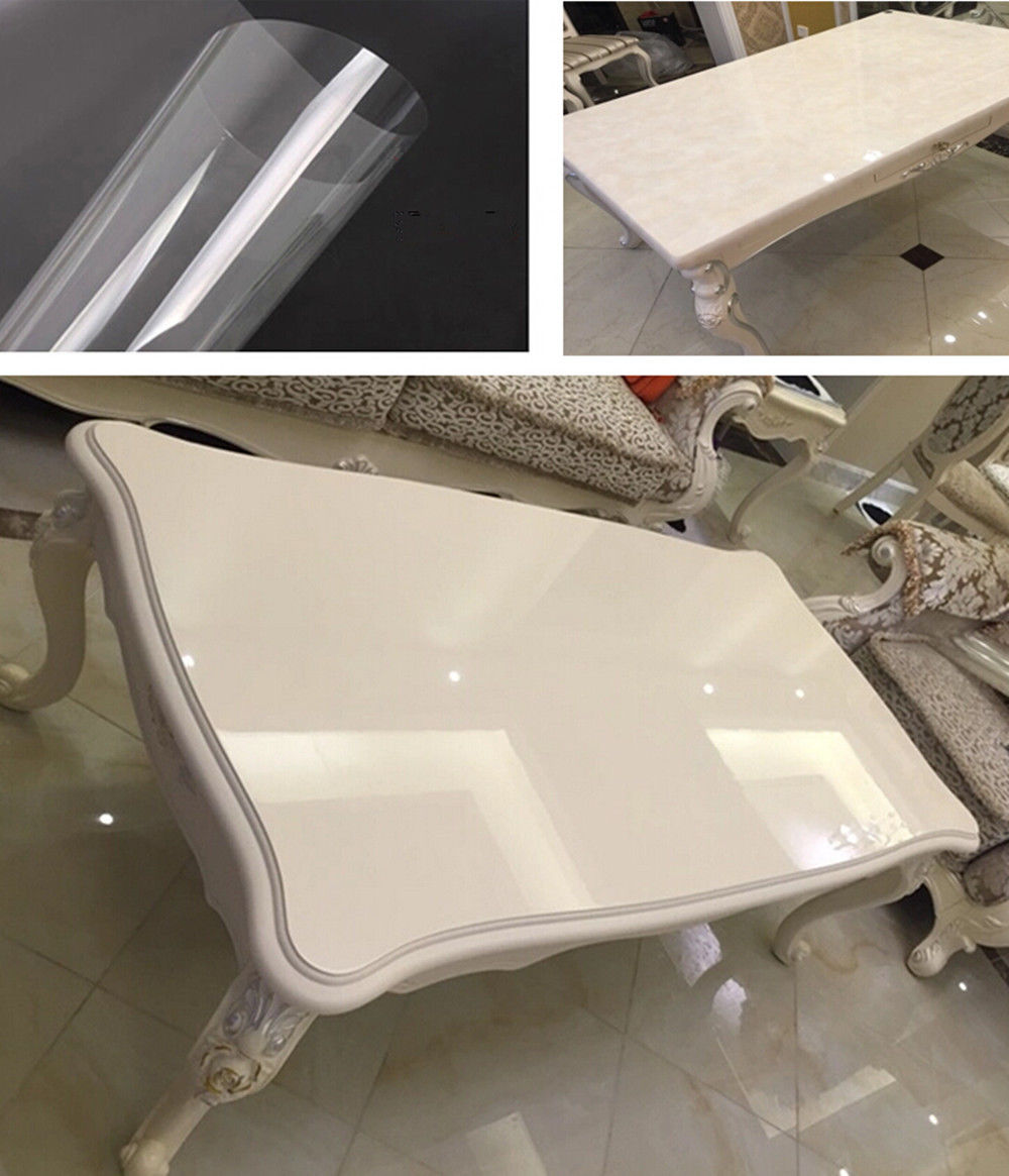 60x100ft/1.52x30m 2mil High Glossy Clear Furniture Protective Film Transparent Stickers Vinyl