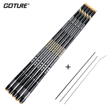 Goture Carp Feeder Fishing Rod Carbon Fiber Telescopic Fishing Rod Hand Pole 3.6-7.2M Stream Rods vara de pesca