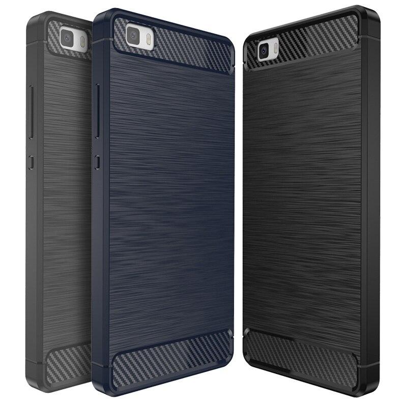 Huawei P8 Lite 2015 Silicone Case Phone Cover Coque For Huawei P8 Lite 2015 Luxury Slim Soft TPU Carbon Fiber Texture Anti-knock
