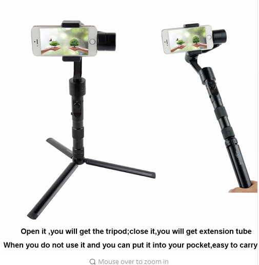 Prix pour Bestablecam portable en alliage d'aluminium trépied pour zhiyun z1 lisse c/l'évolution/rider m/feiyu spg en direct/g5 cardan avec 1/4 vis