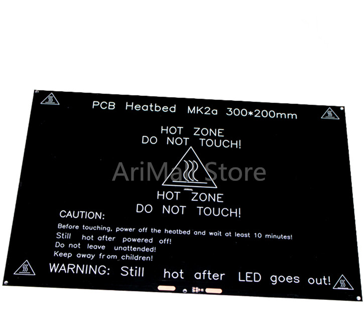 3D Printer MK2A latest Hotbed 12V 180W Aluminum plate <font><b>heatbed</b></font> <font><b>300*200</b></font>*3mm PCB hotbed Aluminum Heated bed image