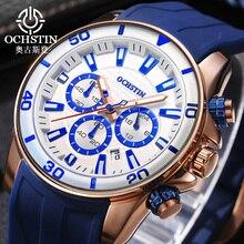OCHSTIN 2017 Casual Sport Montres Hommes Top Marque De Luxe Horloge Hommes de Silicone Quartz Militaire de L'armée Montre-Bracelet mâle relogio