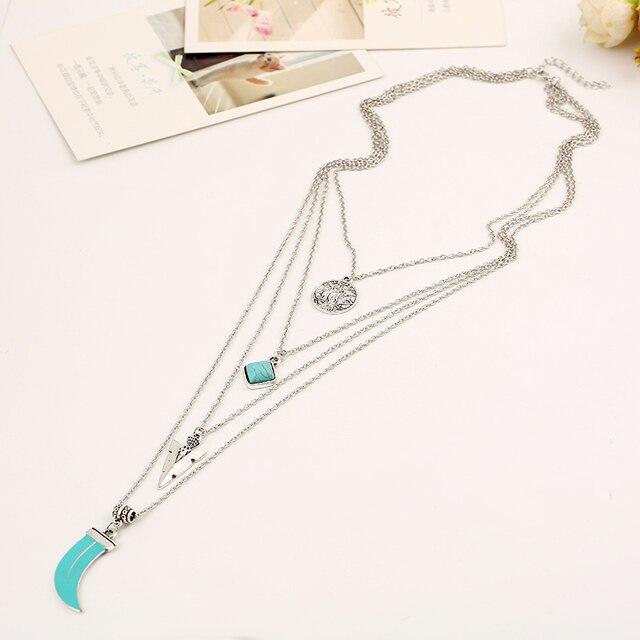 Фото ожерелье с кулоном toucheart тибетский серебристый цвет многослойное