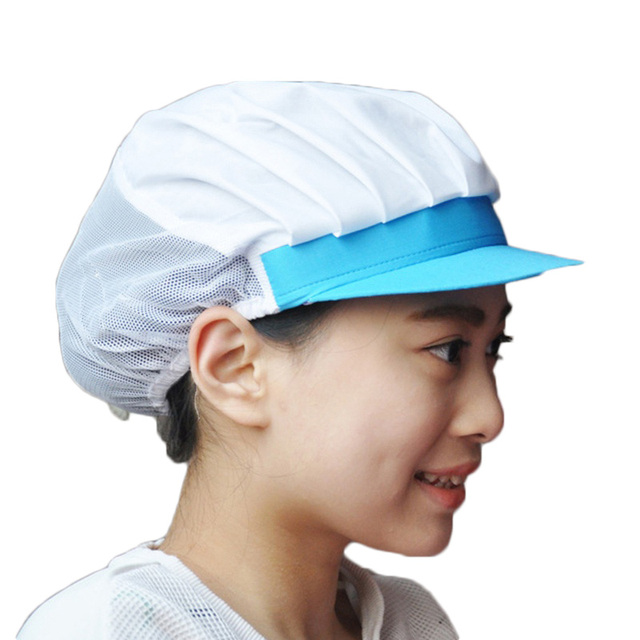 Women Chef Hat Restaurants Accessories Breathable Hotel Cook Cap Work  Uniform Elastic Kitchen Hat Dustproof Cooking Cap c91534c7653