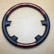 Car Interior Wood Grain Color Car Steering Wheel Cover Cap Trim For Toyota Sienna CE LE XLE 2004-2006