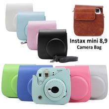Для камеры Fujifilm Instax Mini 8 Mini 9 из искусственной кожи цветной чехол для камеры Instax Mini с ремешком на плечо прозрачный чехол с кристаллами