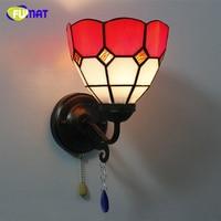 Fumat, витражное стекло бра для гостиной, стеклянная тени искусство коридор светильники Современные краткое прикроватная вешалка огни