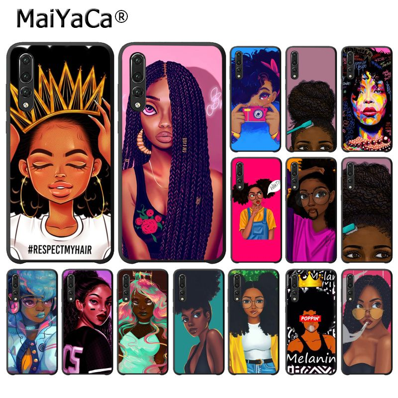 Clothing, Shoes & Accessories Maiyaca 2bunz Melanin Poppin Aba Black Girl Phone Case For Huawei P20lite P10 Plus Mate10lite Mate20 P20 Pro Honor10 View10 Good Reputation Over The World