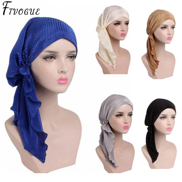 2018 New Women Head Wrap Turban Hat Elegant Satin India Cap Muslim Hairnet  Chemo Cancer Cap Beanie Scarf Chemotherapy Bonnet Hat c73af5000e4c