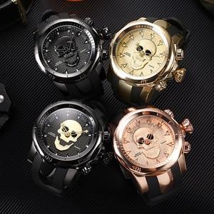 Image 5 - Mens นาฬิกา 3D Pirate Skull นาฬิกาผู้ชายกีฬาผู้ชายนาฬิกากันน้ำ Relogio Masculino