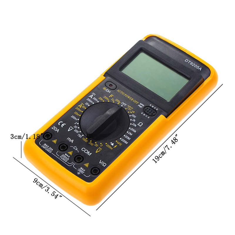 2017 Digital Multimeter Voltmeter Ammeter Volts Resistors Amps Ohms Handheld Tester MAR28_17