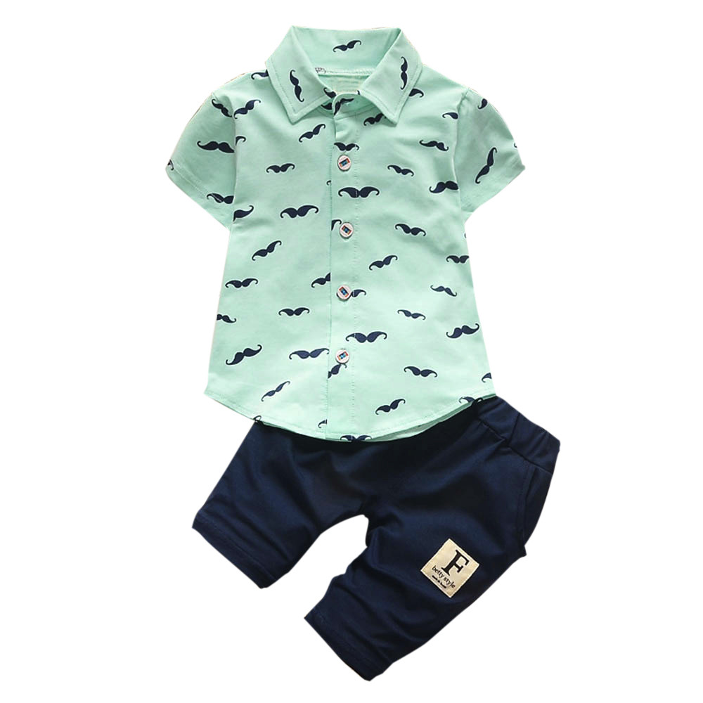 1 set Toddler Kids Baby boys T-shirt Tops short pants Summer Outfits /&set bear