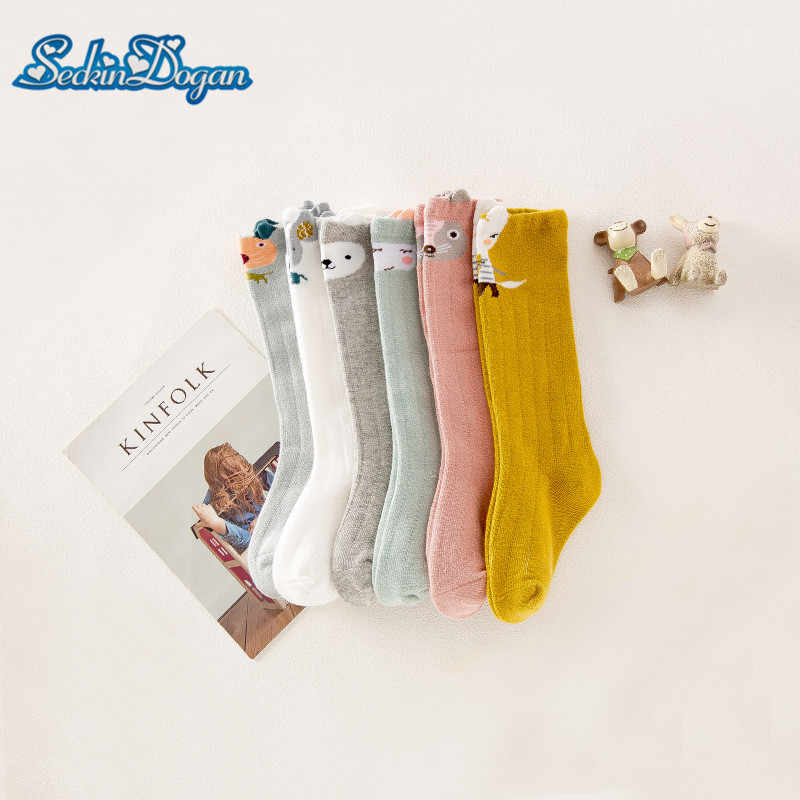 SeckinDogan Baby Socks Cartoon Animal Cotton Newborn Girl Long Socks Cute Casual 0-3Y Toddler Infant Sokken