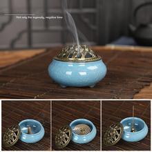 NEW Colorful Porcelain Incense Burner Ceramic Cone Holder Buddhist Incensario De Ceramica Celadon