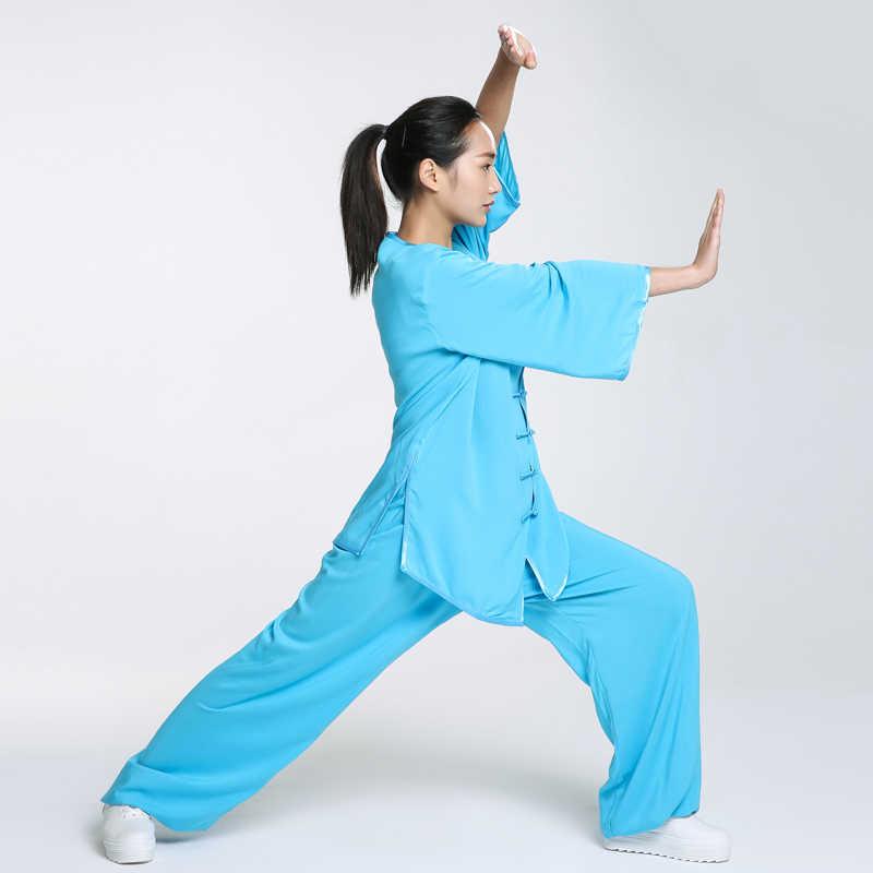 a861484ef ... New Design Woman Short Long Sleeved Wushu TaiChi KungFu Uniform Female  Suit Uniforms Tai Chi Exercise ...