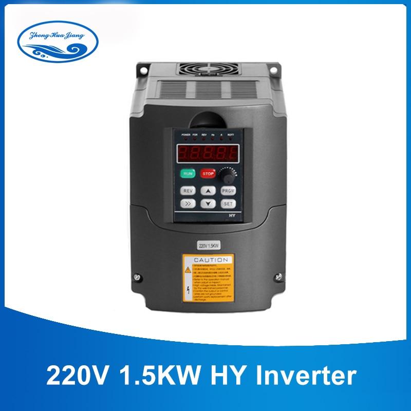 1.5KW VFD CNC Inverter 1500 watt Spindel Variable Frequency Drive VFD Inverter AC 110 v/220 v Spindel Inverter werkzeuge Heißer Verkauf