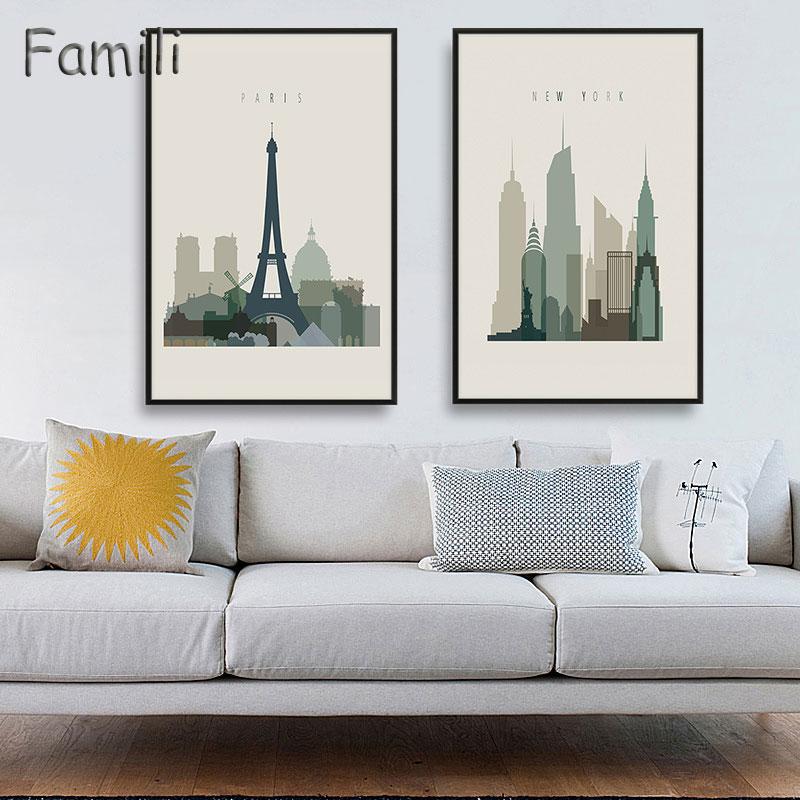 Home Decor Stores London: Aliexpress.com : Buy New York London Paris City Landscape