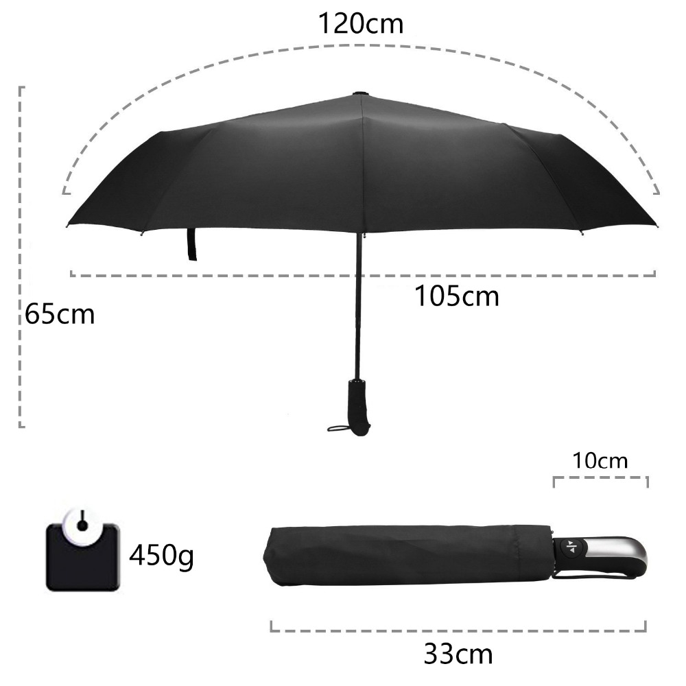 Wind Windproof Men Resistant Black Rain Women Folding Parasol TOPX Coating Umbrellas Big Auto Luxury 10K Automatic For Umbrella 2