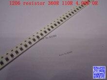 1206 F SMD resistor 1/4W 360R 110R 4.99R 0R ohm 1% 3216 Chip resistor 500PCS/LOT