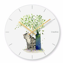 Купить с кэшбэком Nordic Wall Clock Mute Fashion Living Room Clock Silent Creative Wall Clocks Mechanism Relogio Parede Guess Women Watches 50Q183