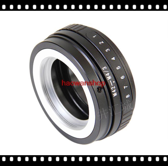 42mm M42 lens pour Micro 4/3 M43 tilt adaptateur anneau pour Panasonic M4/3 GF3 EPL3 EPM1 EP2 G3 GX1