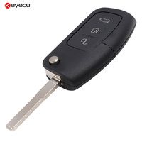 Remote Key Fob 3 Button 433MHz With Chip 4D60 For Ford Mondeo Focus C Max S