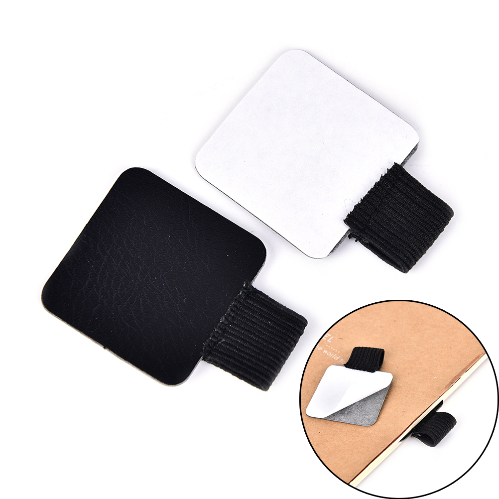Desk Accessories & Organizer Self-adhesive Leather Pen Clip Pencil Elastic Loop For Notebooks Journals Clipboards Pen Holder