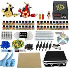 Professional Tattoo kit Great Complete Equipment Dual machine 40 color Tattoo Machine set 2 Gun Power