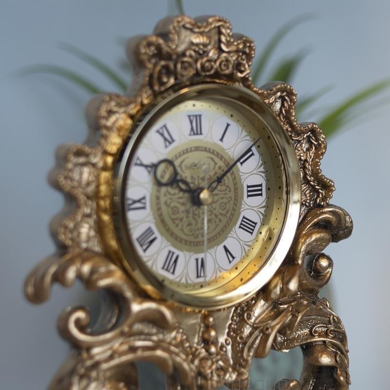 Style européen artisanat horloge chambre luxueux ange bureau horloge bureau étude chambre décoration - 4