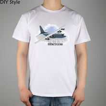 Ma Ding Luoma Lockheed C130 Hercules Military Fans Male short-sleeved t-shirt Lycra Top
