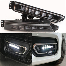 5 LED Car Accessories Daytime Running Light For Honda CRV CR-V 2017 2018 Waterproof Fog Lights Signal Lamp Car-styling DRL 2PCS цена в Москве и Питере