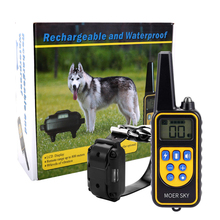 New 800m Electric Dog Training Collar Remote Control Waterproof Rechargeable with LCD Display for All Size Shock Vibration Sound