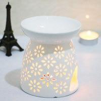 White ceramic hollow aroma lamp oil lamp burner ceramic incense candle oil furnace