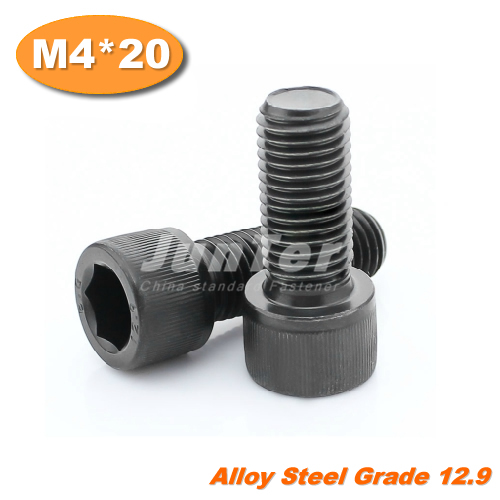 100 шт./лот DIN912 M4 * 20 Grade12.9 легированная сталь с шестигранной винт
