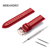Straps 12mm 14mm 18mm 20mm Calf Skin Genuine Leather Watch Band With Watch Stainless steel black Buckle For Panerai Watch Strap