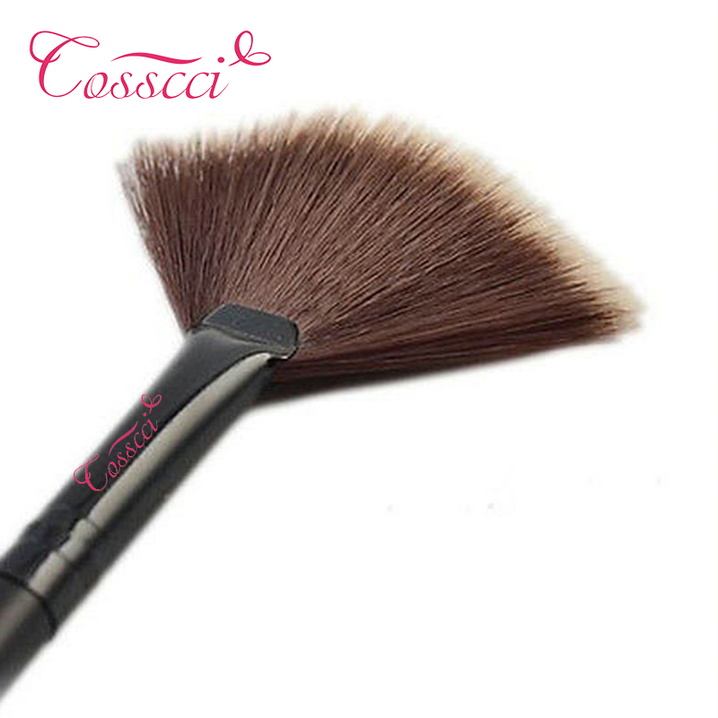 COSSCCI New Pro Fan Shape Makeup Brushes Cosmetic Brush Blending Highlighter Contour Face Powder Woman Makeup Tool BF25