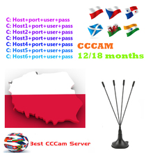 7 lines Cccam Cline For 1 Year Poland Portugal Spain Italy Ccccam HD Server Freesat GTmedia V7S Nova DVB S2 Receiver