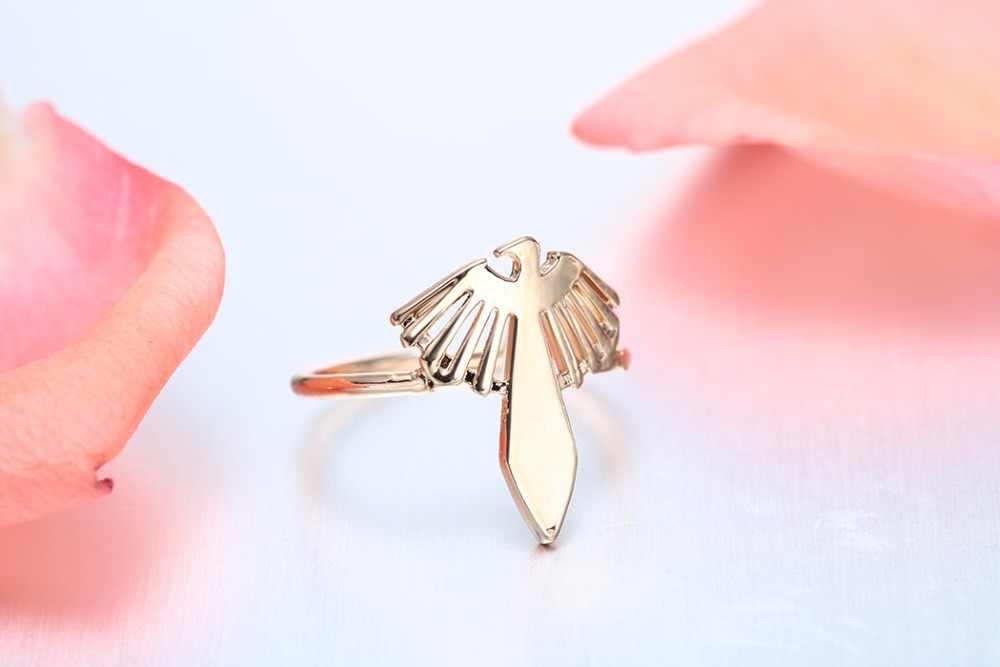 Chandler 2017 marca Inca halcón anillo águila pájaro encanto Bague para mujeres Punk campeonato de compras online en la india sentimiento