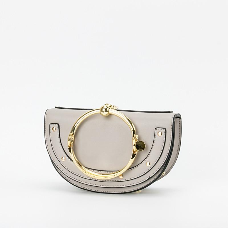 2019 Luxury Women Bag Brand Shoulder Bag Half Moon Handbag Fashion Crossbody Bag PU Leather Purse