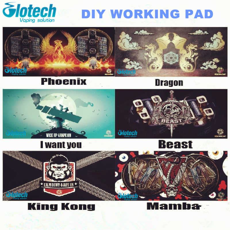 Glotech Electronic Cigarettes DIY working pad for coil jig ceramic tweezer mat DIY coiling tool working mate RDA RBA Atomizers