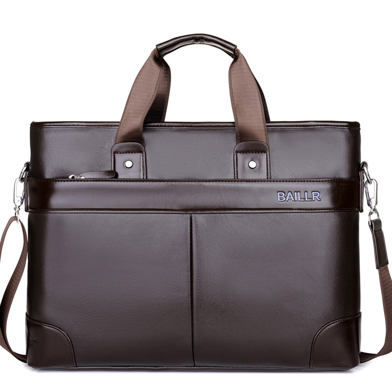 Men S Laptops Computer Bags For Leather Bag Man Office Mens Briefcase Working Pockets Business Shoulder Messenger In Briefcases From Luggage