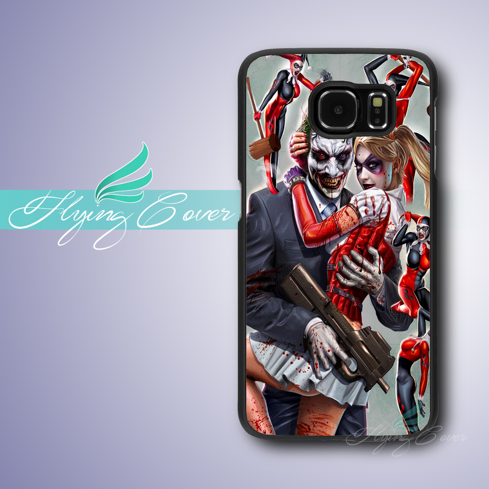 Coque Joke and Harley Quinn Batman Case for Samsung Galaxy Note 7 5 4 3 Case for Samsung Galaxy S3 S4 S5 S6 S7 Edge Plus Case.