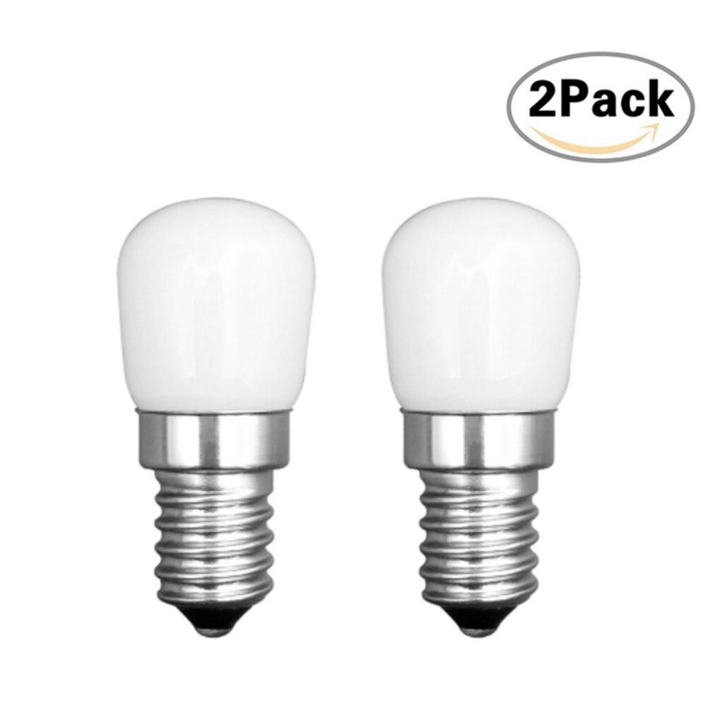 LEDGLE 2 pcs E14 LED Energy-saving Bulb Fridge LED Lamp Bulb Set Efficient Lamp Bulb 360 degree Beam Angle Warm White Light
