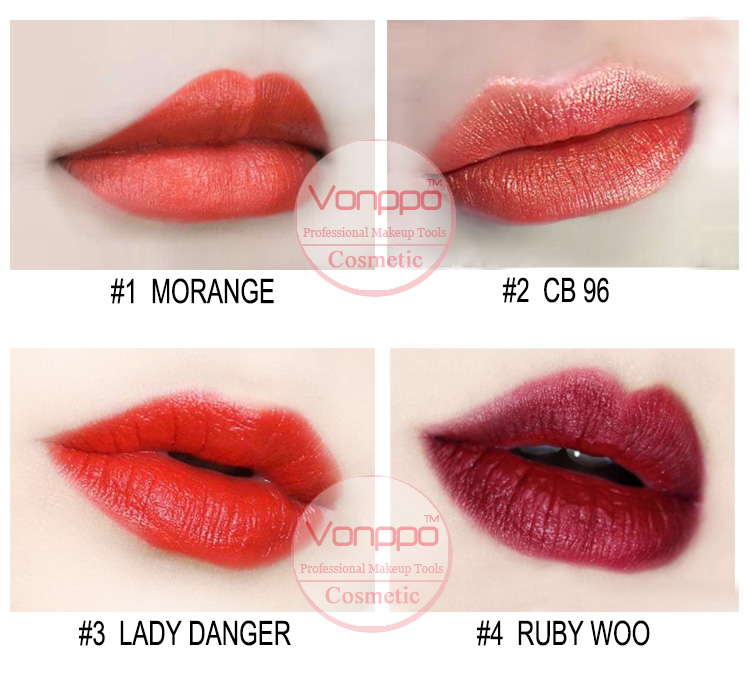 New Professional Lipstick Cosmetic Long Lasting Sexy Lipstick Black Case Smooth Beauty Sexy Nude Lips
