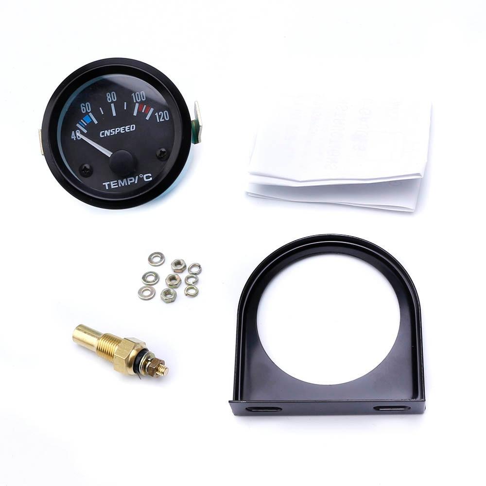 Image 5 - CNSPEED 52mm Car Water Temperatur Gauge Car Temp Meter black Face  Panel Auto water temperature Gauge Meter YC101261-in Water Temp Gauges from Automobiles & Motorcycles